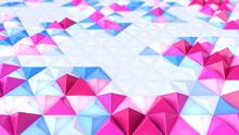 Abstract Geometric Bright Tech Pattern. 3D Render