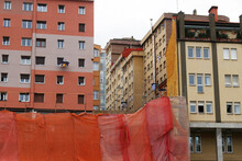 Construction Site In An Urban ...