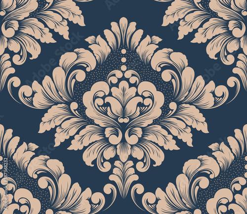 Photo Damask seamless pattern element