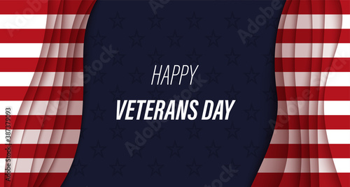 Fotografija Veterans Day greeting card
