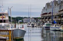 City Skyline With Marina, Port...