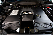 Bangkok, Thailand - 2012 June 11 : Closeup Mercedes AMG Engines