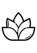 Seasoning Flower Flat Icon Isolated On White Background