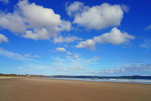 Sandy Beach At The Scarborough Beach State Park Near Portland, Maine, United States