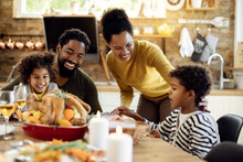 Happy African American Family ...
