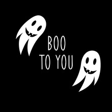 Boo To You Illustration. Hallo...