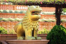 Sculpture Of Golden Mythical B...