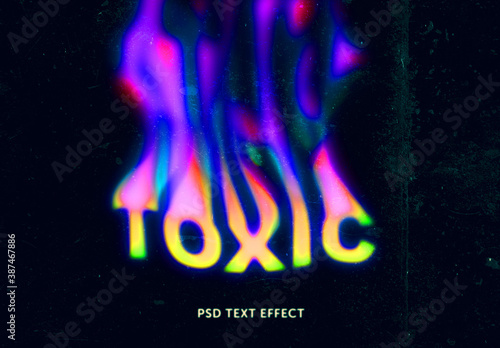 Obraz Toxic Text Effect - fototapety do salonu