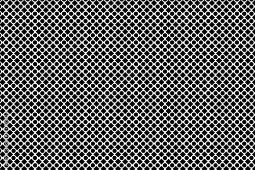 Obraz Patrón de cuadrados y círculos negros alternados sobre fondo blanco - fototapety do salonu