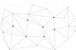 Network abstract connection isolated on white background. Network technology background with dots and lines. Ai background. Modern abstract concept. Ai vector, network technology