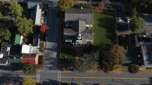 Aerial Camera Tilting Up While Descending In Front Of McMurrin Hall In Shepherdstown, WV.