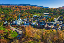 Aerial View Of Charming Small ...
