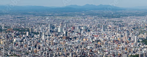 Stampa su Tela パノラマ撮影・藻岩山山頂から望む札幌市の全景 / 北海道札幌市の観光イメージ