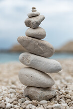 Stone Balancing Close Up