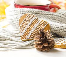 Christmas Cookies And Red Mug ...