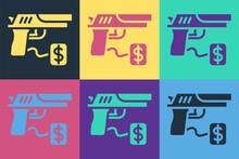 Pop Art Buying Gun Pistol With...