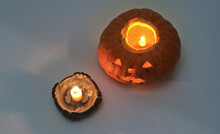 Jack O Lantern With A Lighted ...