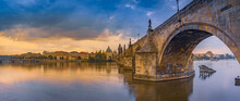 Charles Bridge Over The Vltava...