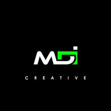 MDI Letter Initial Logo Design Template Vector Illustration