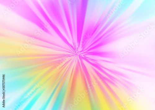Light Multicolor, Rainbow vector blurred and colored background. Fotobehang