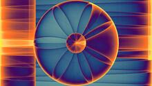 Rendu D'un Travail Numérique Abstrait Représentant La Naissance D'une Rose Géométrique Colorée
