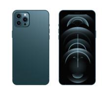 Iphone 12 Pro Vector. Smartphone Mockup. Realistic Mobile Phone Mockup