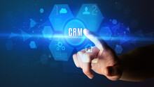 Hand Touching CRM Inscription,...