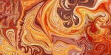 Abstract Orange, Red And Yellow Wavy Background With Curve Lines. Lava. Burn. Flame.