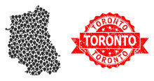Distress Toronto Seal And Mark Mosaic Map Of Lublin Province
