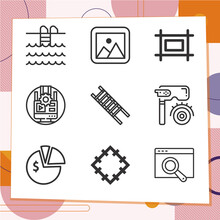 Simple Set Of 9 Icons Related To Pilot