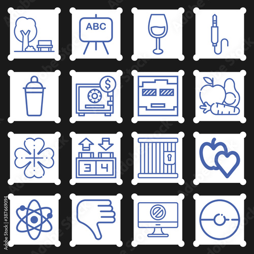 16 pack of good  lineal web icons set Wallpaper Mural