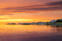 Colourful Sunset Over Norwegia...