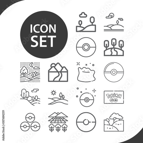 Simple set of plains related lineal icons. фототапет