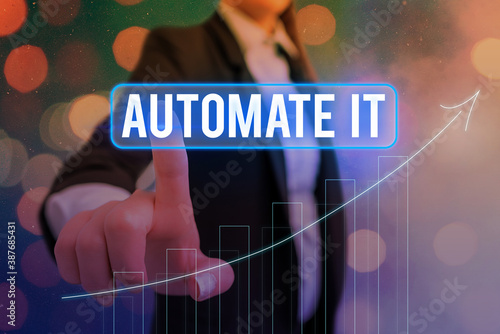 Fotografía Conceptual hand writing showing Automate It