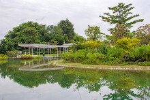 Singapore 23rd Oct 2020: The Pond Reflection View In Jurong Lake Gardens. A New National Gardens In The Heartlands. It Is A People's Garden, Where Spaces Will Be Landscaped And Created For Families.