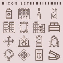 Simple Set Of  16 Lineal Icons...