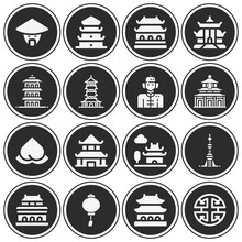 16 Pack Of Shanghai  Filled Web Icons Set
