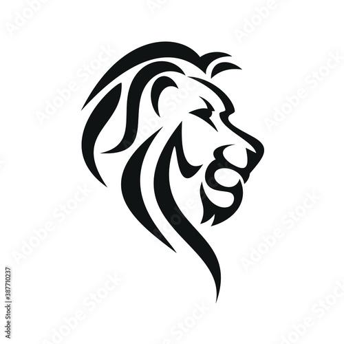 Fototapety, obrazy: africa, animal, art, beast, beauty, black, carnivore, cat, courage, danger, design, emblem, face, feline, freedom, graphic, head, icon, illustration, isolated, king, leader, leo, leonine, lion, logo,