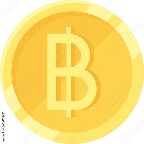 Vászonkép Thai baht coin, official currency of Thailand