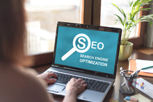 Search Engine Optimization Concept On A Laptop Screen