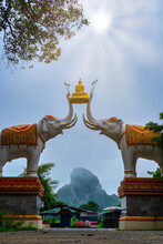 The Entrance To Wat Tham Erawa...