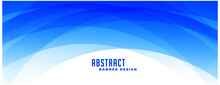 Abstract Blue Curvy Shapes Banner Design