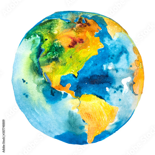 Obraz Earth planet. Globe. View of North and South America. - fototapety do salonu