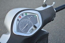 Close Up Of A Scooter Dashboard