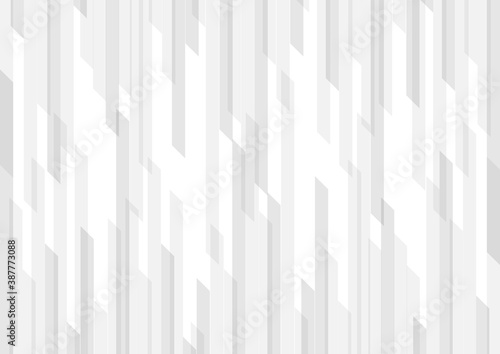 Obraz Abstract white and gray geometric vertical stripes background and texture - fototapety do salonu