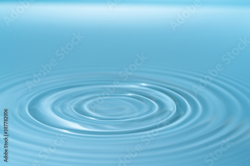 Obraz Drop of water drop to the surface. Waves on the surface of the water from a collision - fototapety do salonu