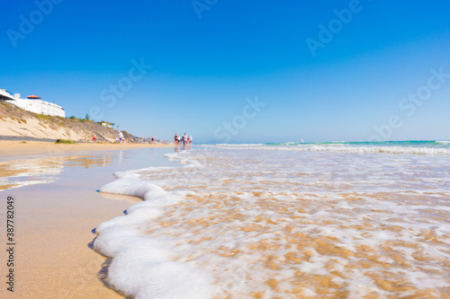 Obraz Sandy beach and calm sea in the Canary Islands - fototapety do salonu