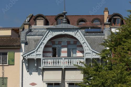 Fototapeta old villa Belle epoque in Montreux, Switzerland