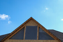 Work On The Roof Of The House, Installation Of Windows. Repair Work, Construction