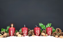 Candles For Advent And Christmas